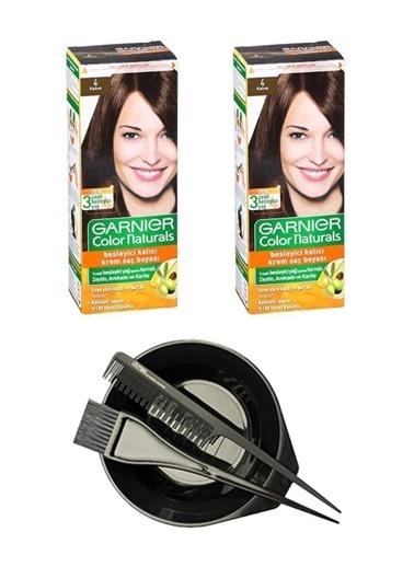 Garnier Garnier 2 Adet Color Naturals Saç Boyası 4 + Saç Boyama Seti Renksiz
